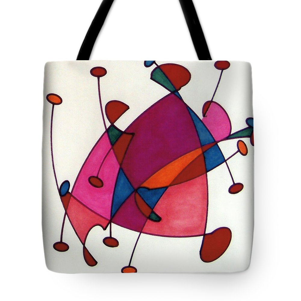 Abstract Walk Tote Bag featuring the drawing Rfb0584 by Robert F Battles