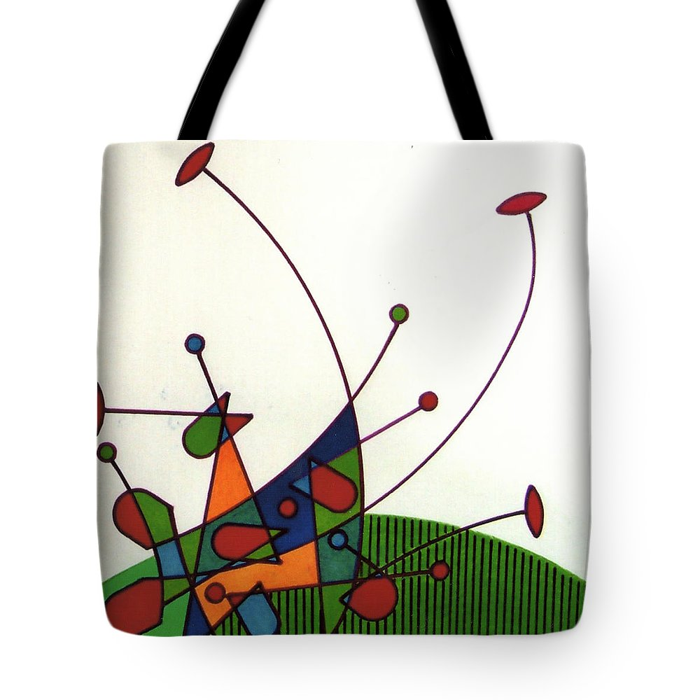 Cricket Tote Bag featuring the drawing Rfb0585 by Robert F Battles