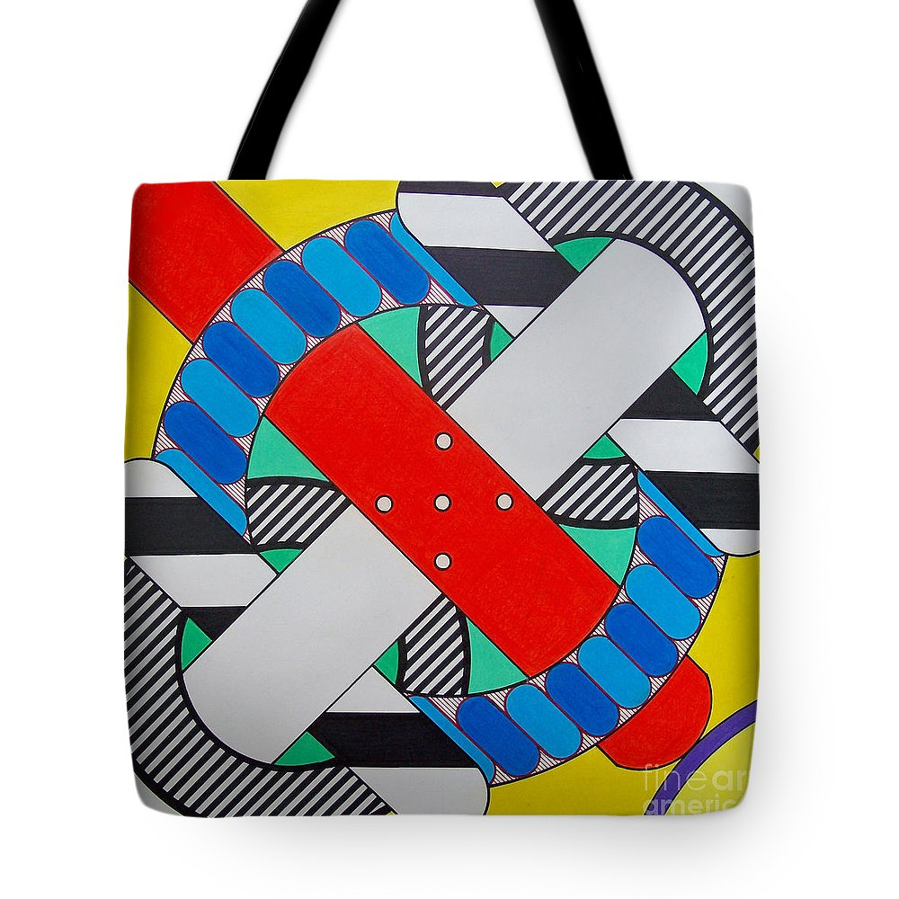 Abstract Tote Bag featuring the drawing Rfb0602 by Robert F Battles