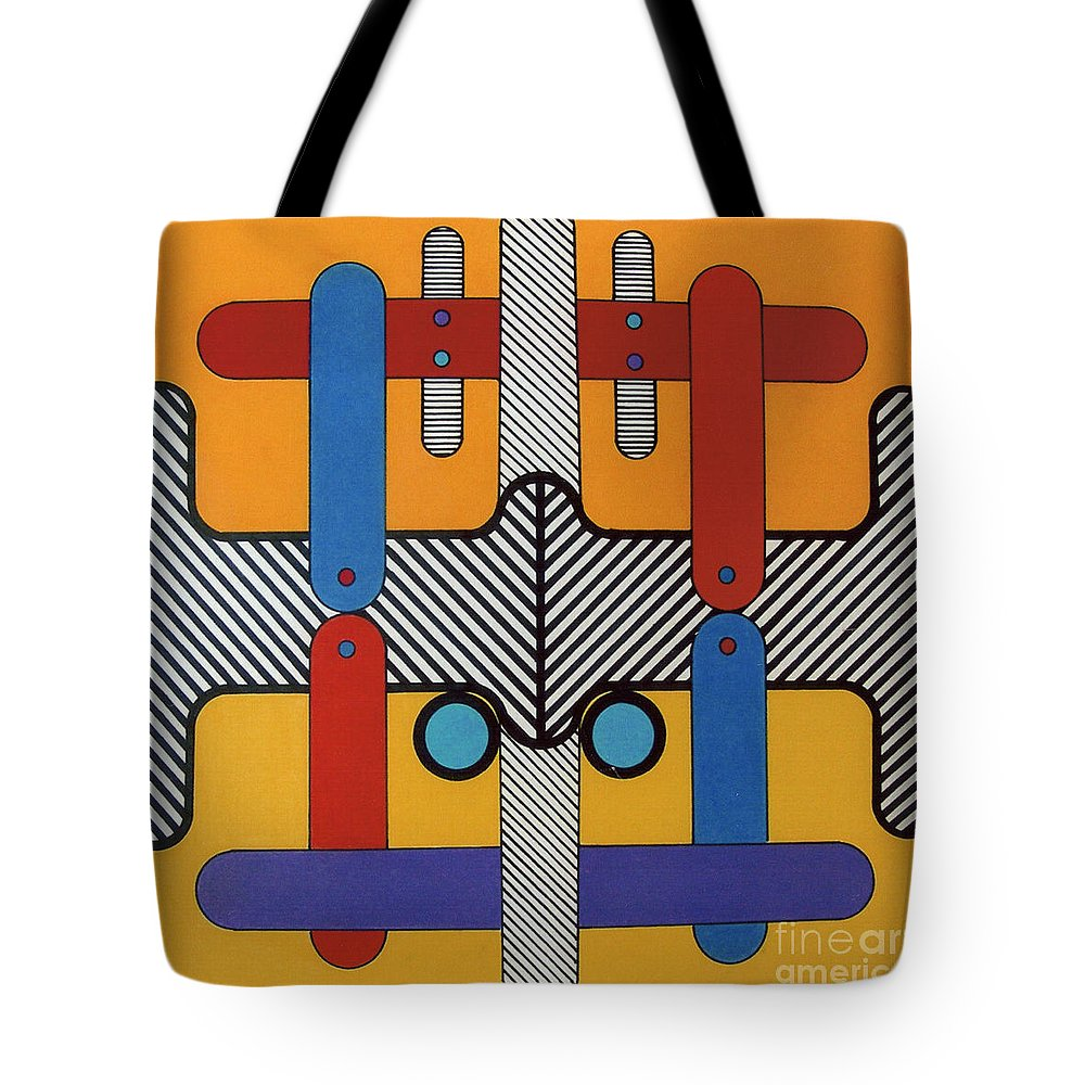 Hydrolics Tote Bag featuring the drawing Rfb0603 by Robert F Battles