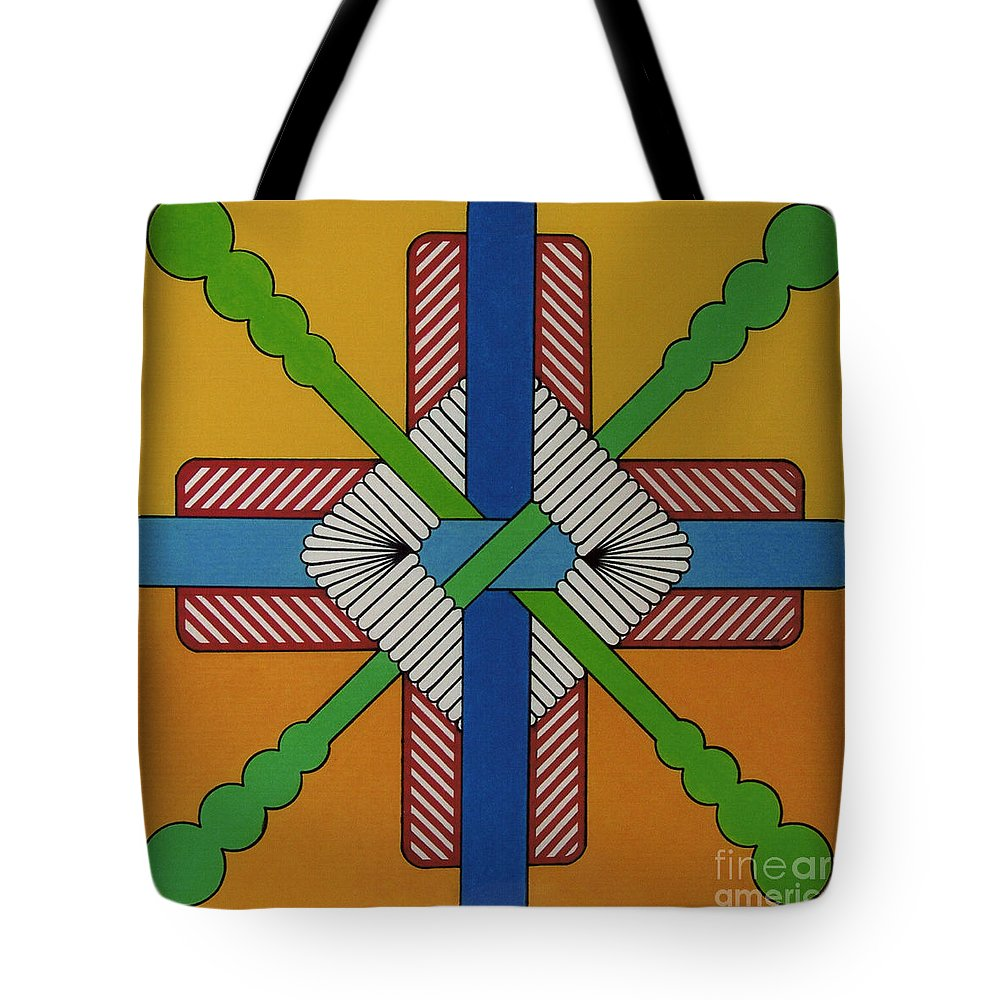 Cross Tote Bag featuring the drawing Rfb0605 by Robert F Battles