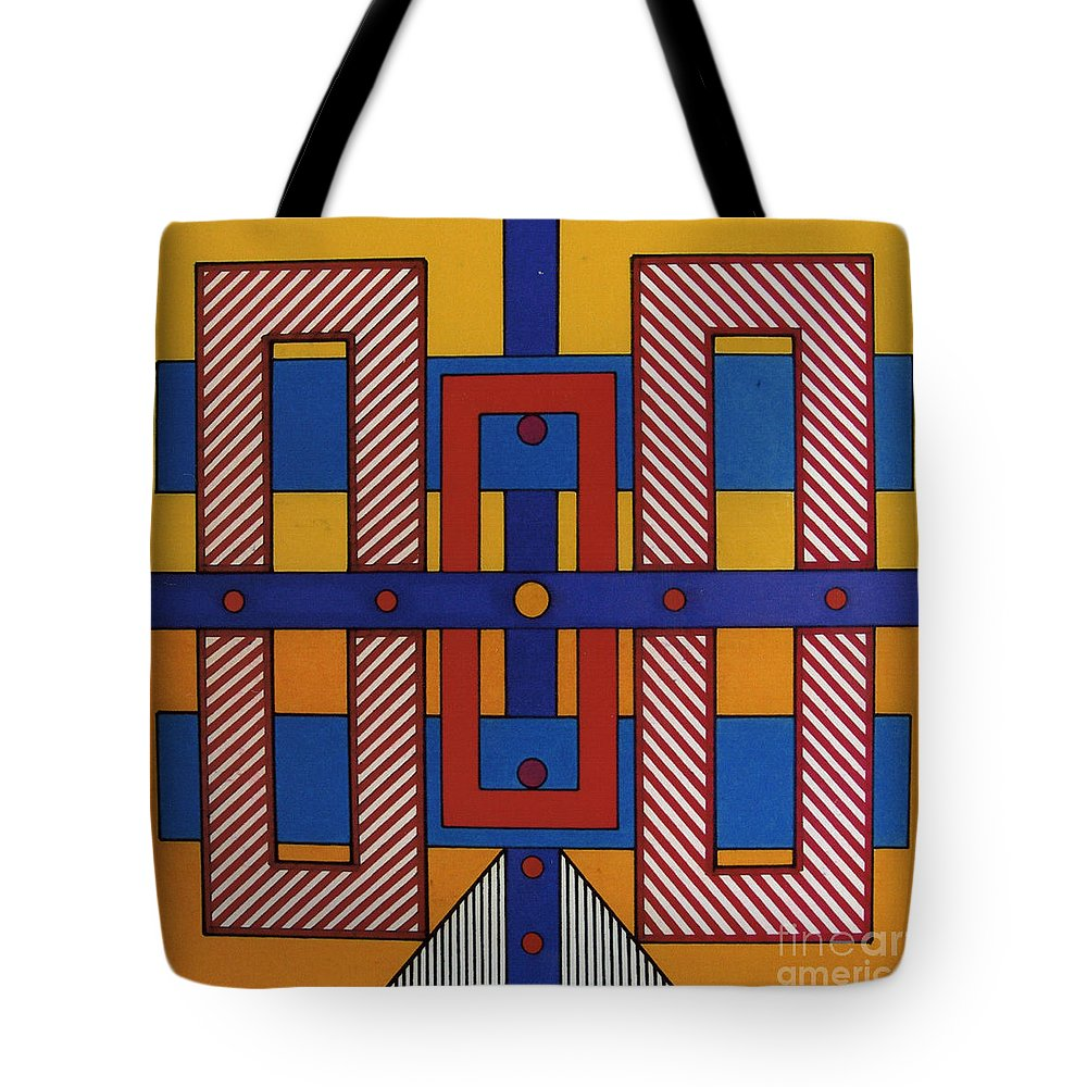 Abstract Tote Bag featuring the drawing Rfb0606 by Robert F Battles