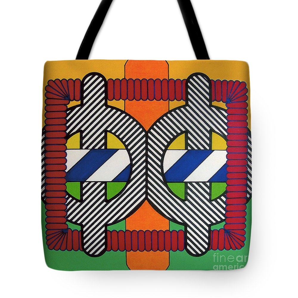 Abstract Tote Bag featuring the drawing Rfb0608 by Robert F Battles