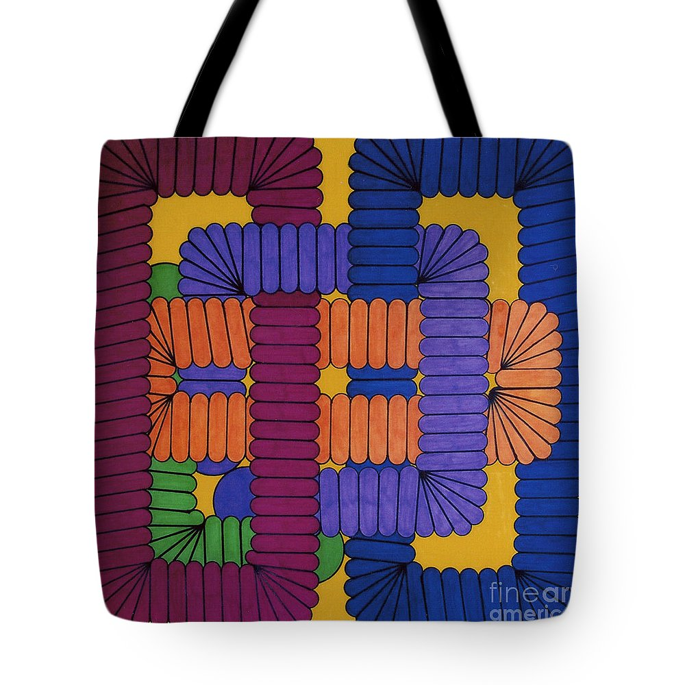 Abstract Tote Bag featuring the drawing Rfb0612 by Robert F Battles