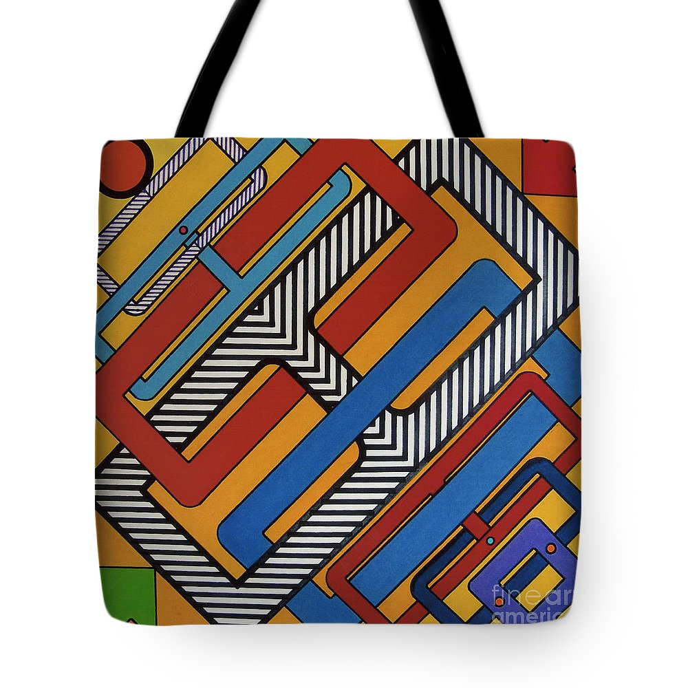 Right Angles Tote Bag featuring the drawing Rfb0613 by Robert F Battles