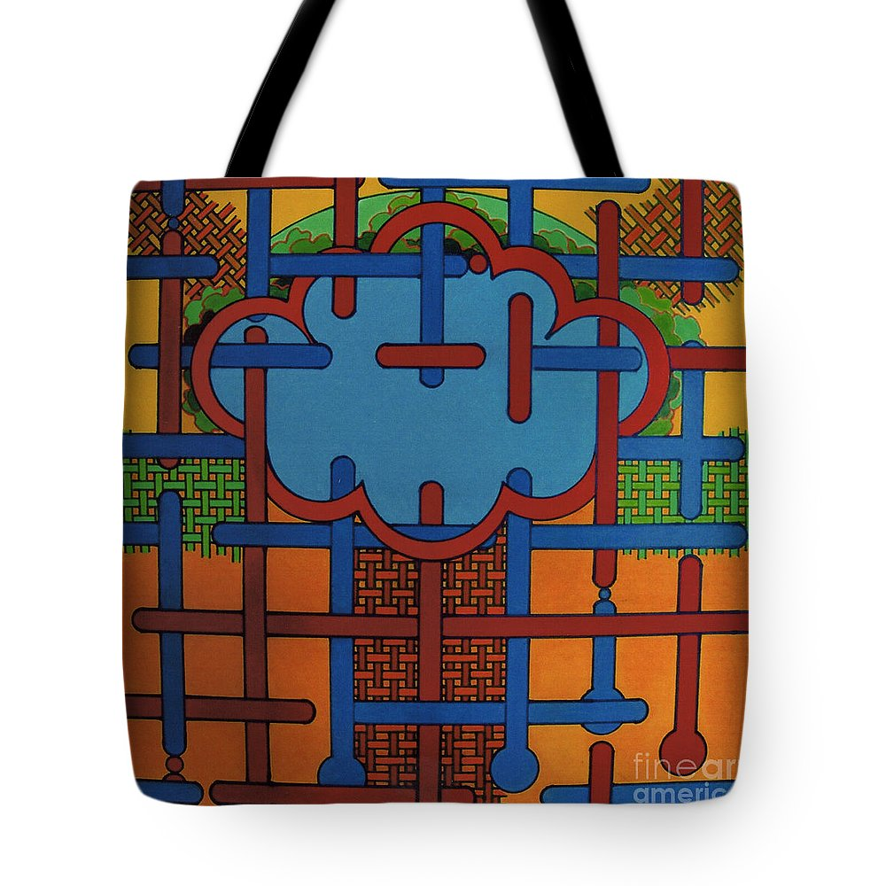 Celtic Cloud Tote Bag featuring the drawing Rfb0614 by Robert F Battles