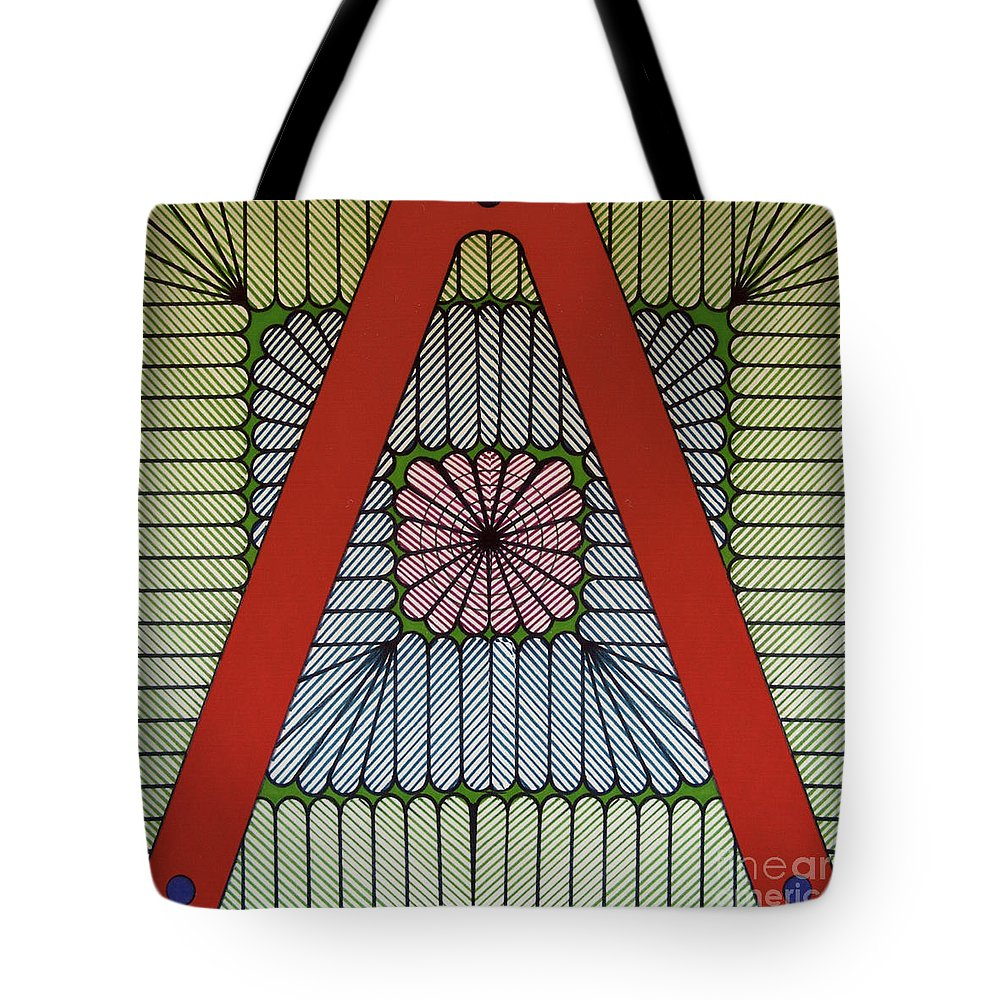 Abstract Tote Bag featuring the drawing Rfb0615 by Robert F Battles