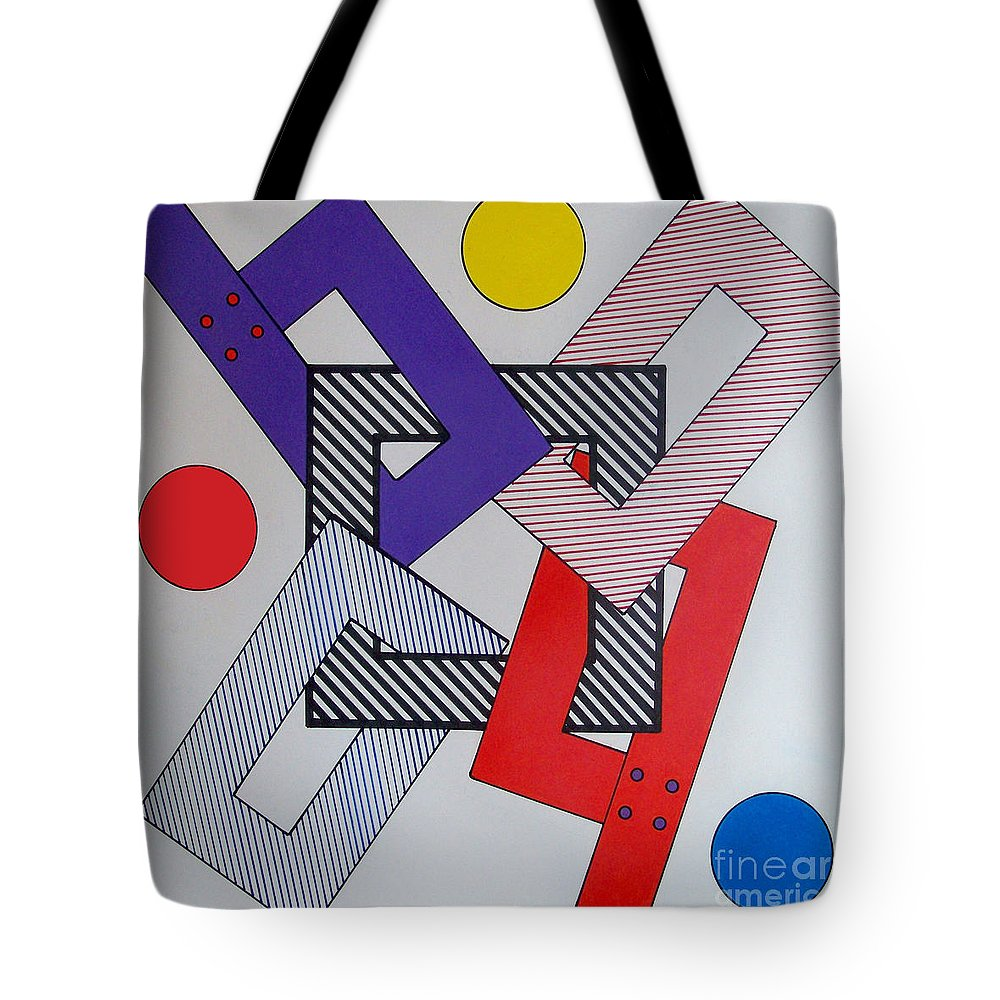 Squared Off Tote Bag featuring the drawing Rfb0616 by Robert F Battles