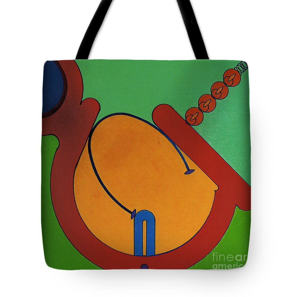 Balance Tote Bag featuring the drawing Rfb0619 by Robert F Battles