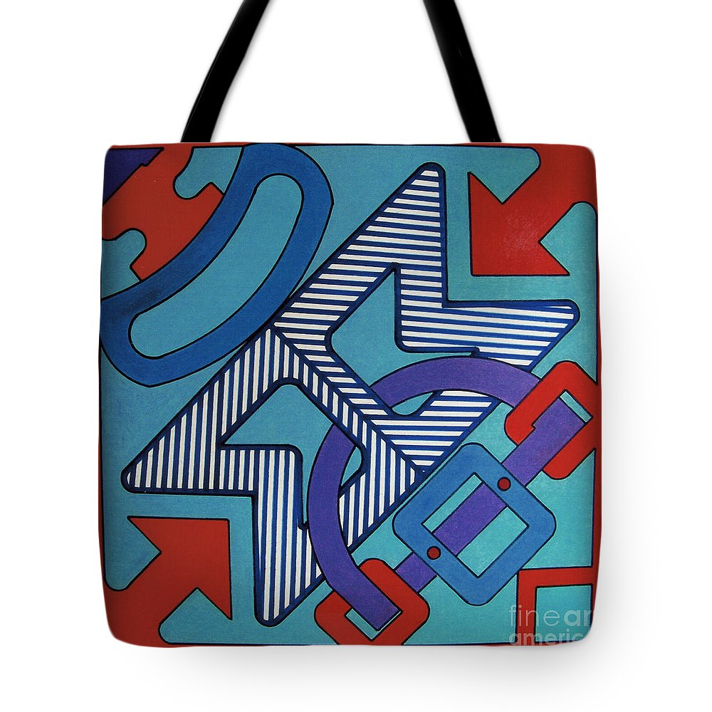 Directional Shapes Tote Bag featuring the drawing Rfb0620 by Robert F Battles