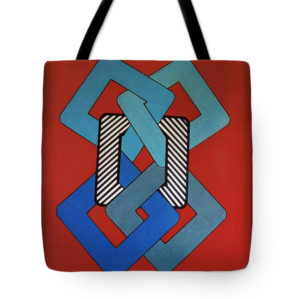 Looped Tote Bag featuring the drawing Rfb0621 by Robert F Battles