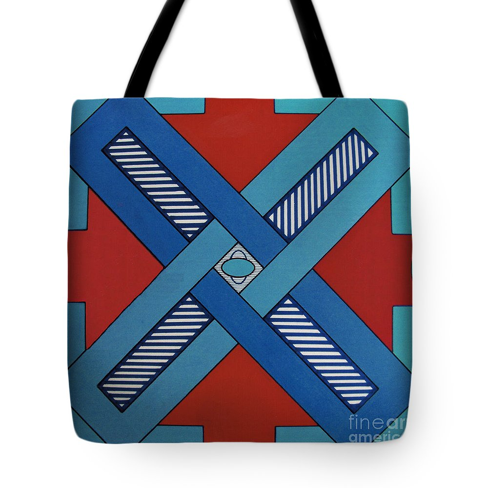 Abstract Tote Bag featuring the drawing Rfb0623 by Robert F Battles