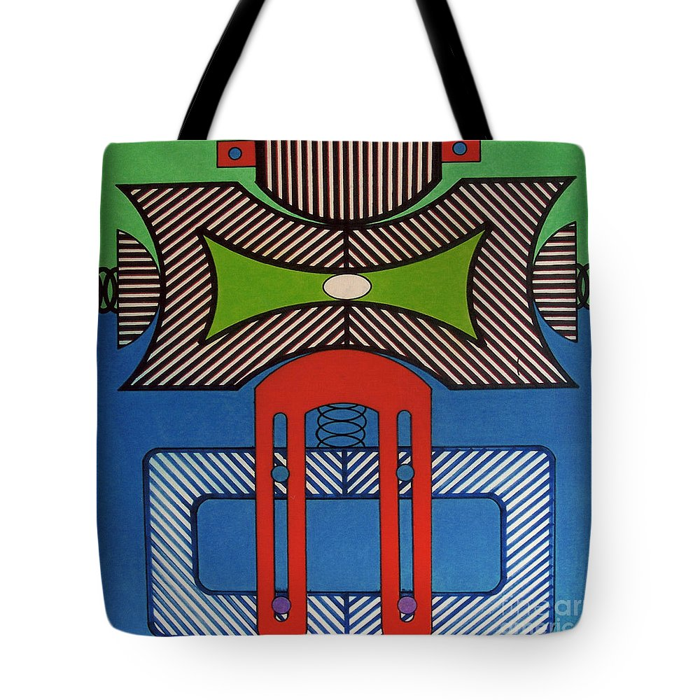 Tote Bag featuring the drawing Rfb0629 by Robert F Battles