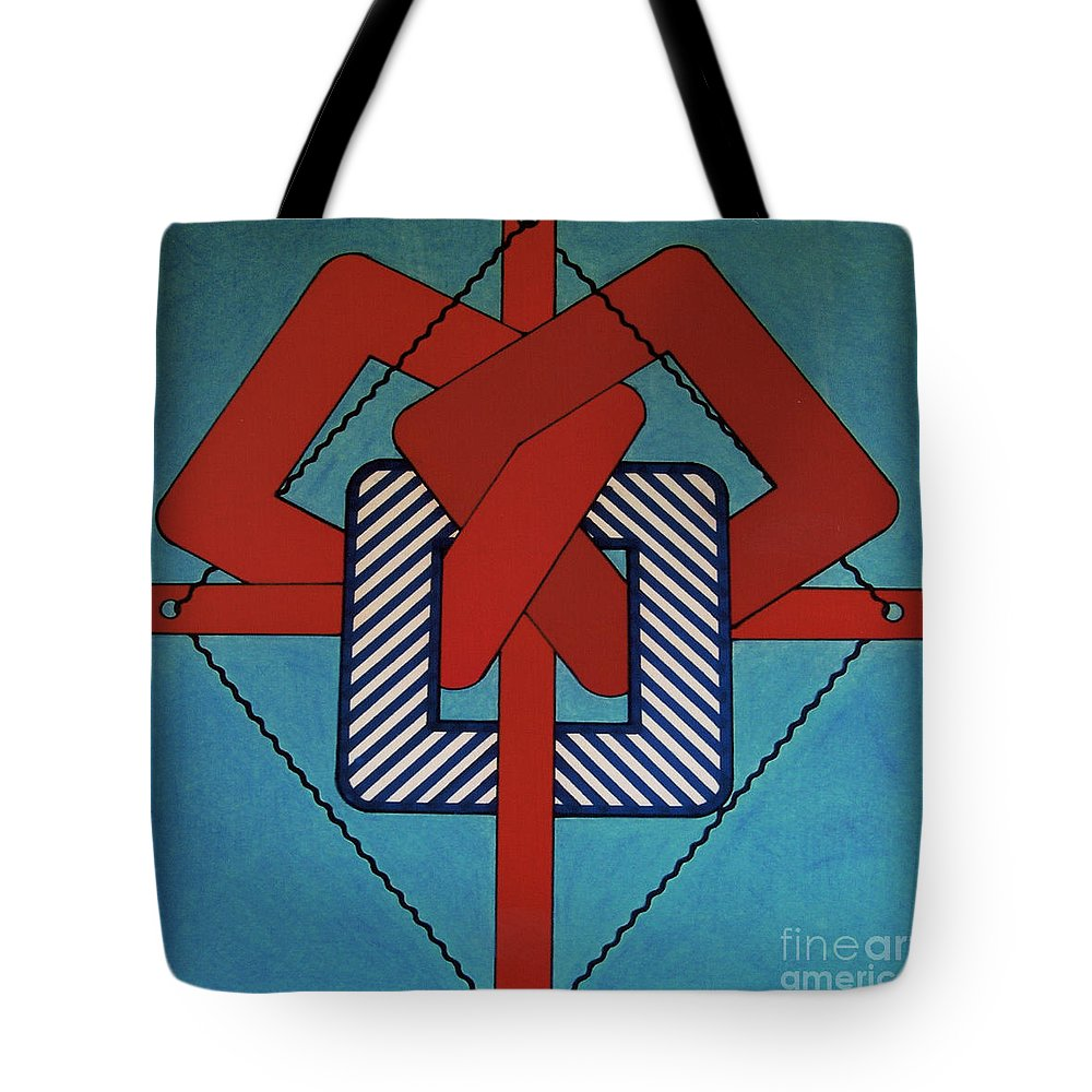 Abstract Tote Bag featuring the drawing Rfb0631 by Robert F Battles