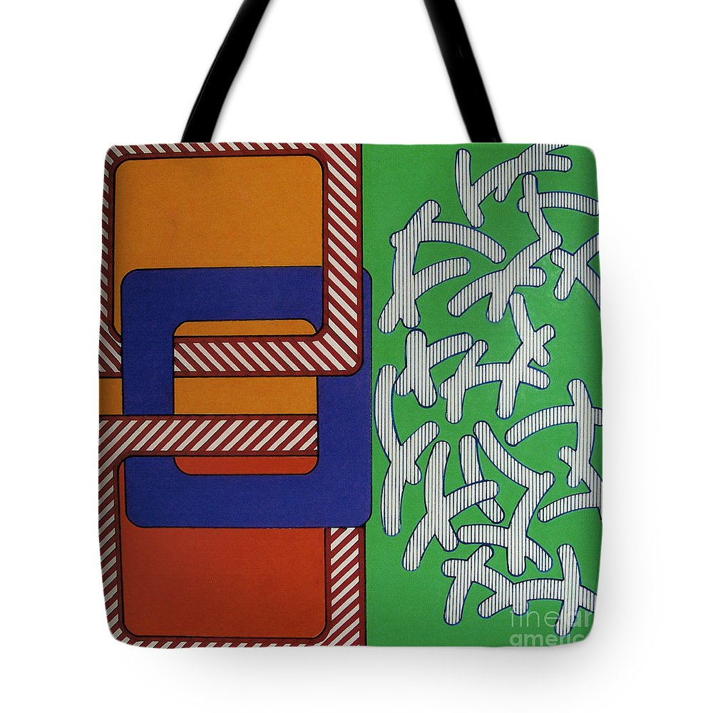Abstract Tote Bag featuring the drawing Rfb0633 by Robert F Battles