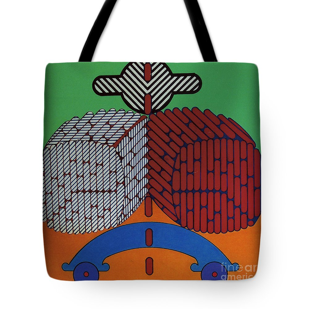 Straight Line Tote Bag featuring the drawing Rfb0635 by Robert F Battles