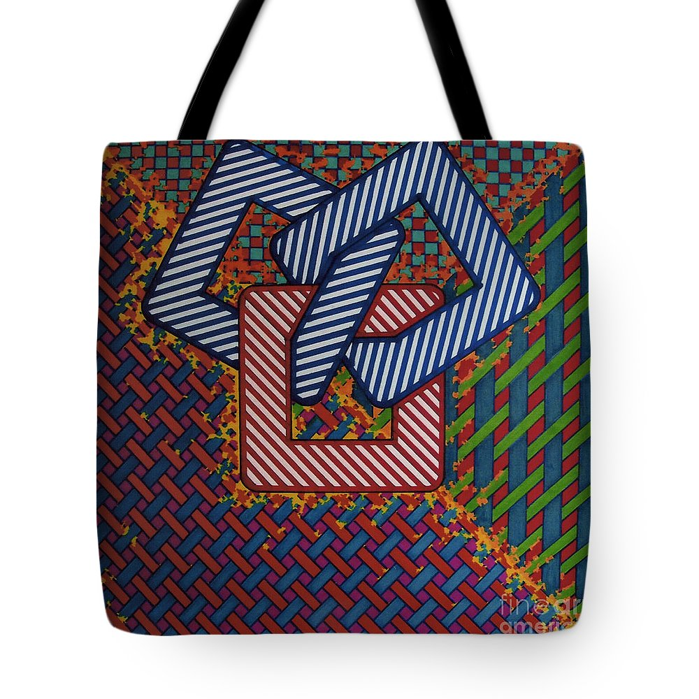 Woven Tote Bag featuring the drawing Rfb0637 by Robert F Battles