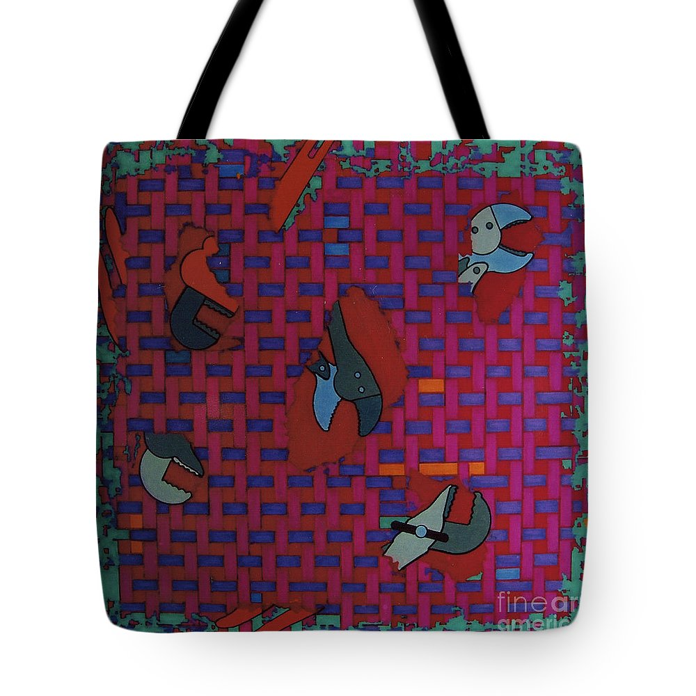 Tool Weave Abstract Tote Bag featuring the drawing Rfb0638 by Robert F Battles