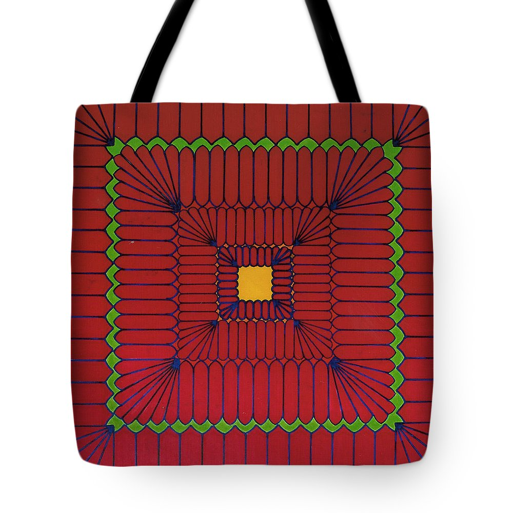 Intense Tote Bag featuring the drawing Rfb0639 by Robert F Battles
