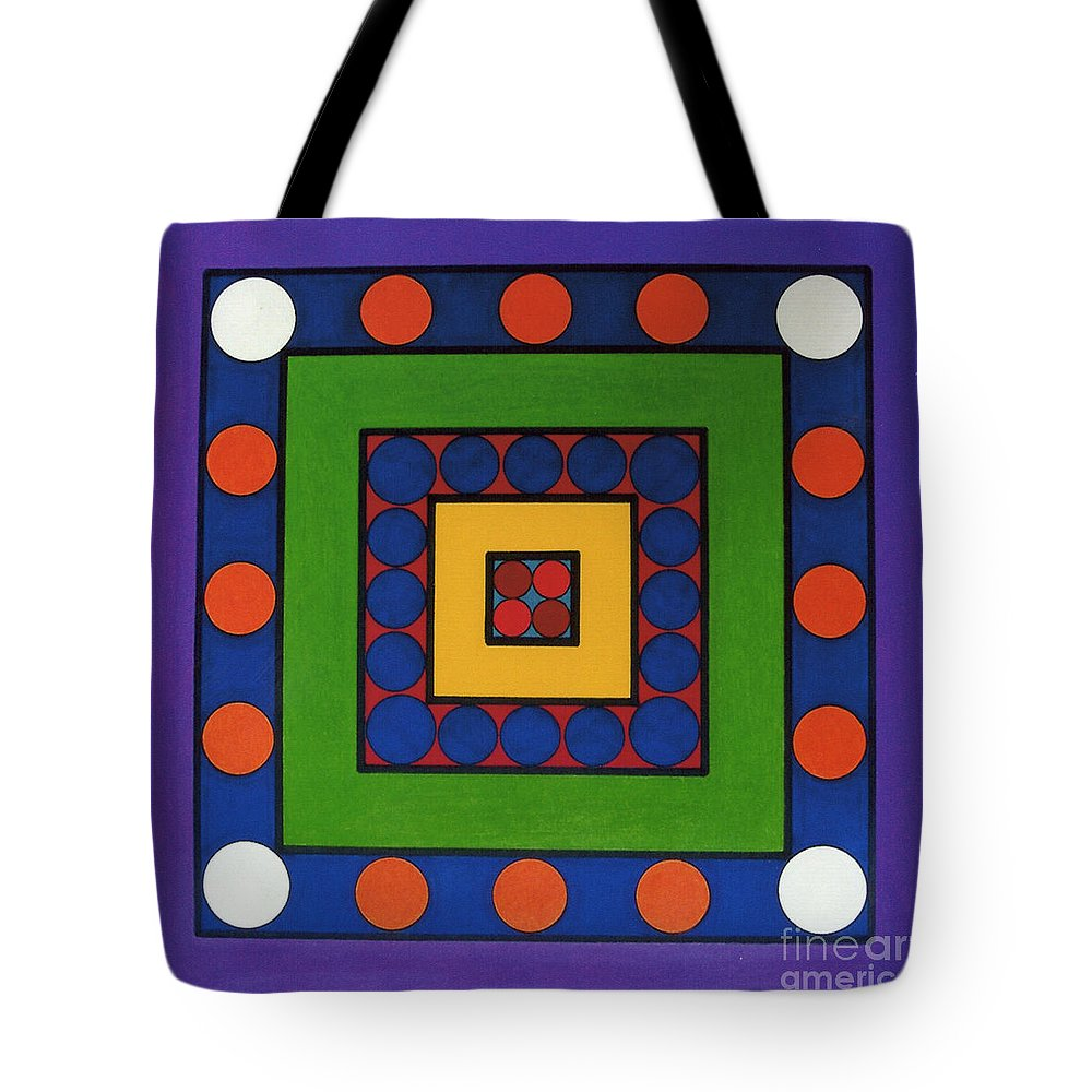 Purple Tote Bag featuring the drawing Rfb0642 by Robert F Battles
