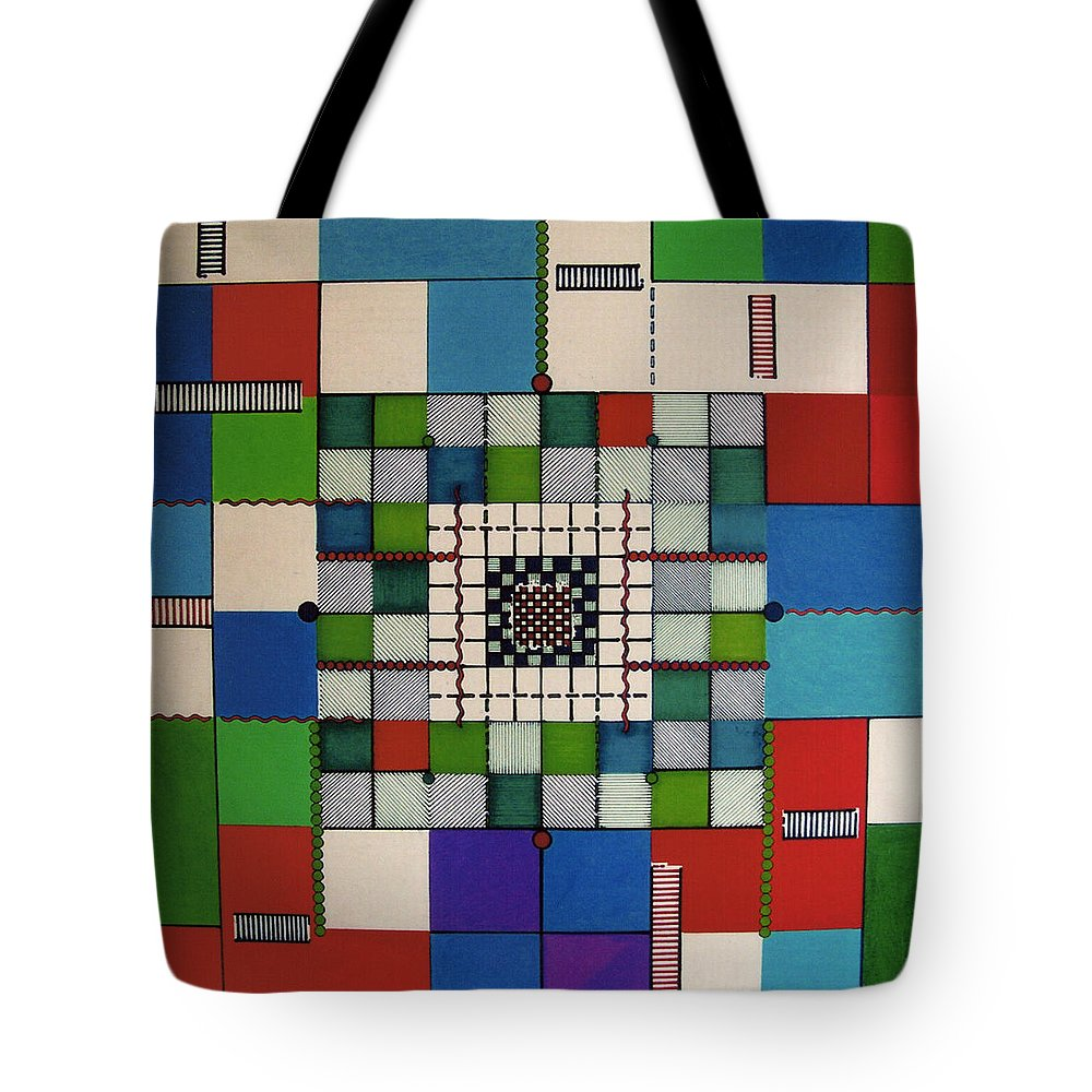 Abstract Tote Bag featuring the drawing Rfb0646 by Robert F Battles