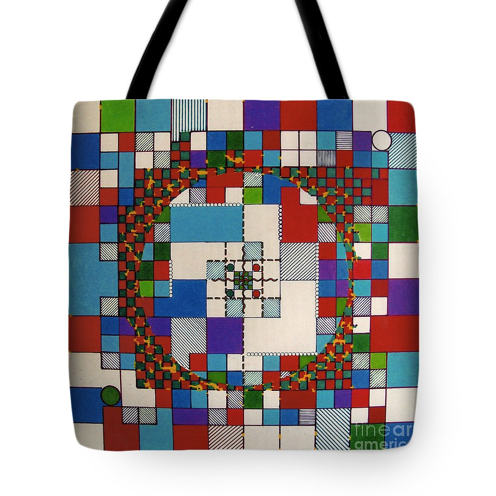 Abstract Tote Bag featuring the drawing Rfb0647 by Robert F Battles