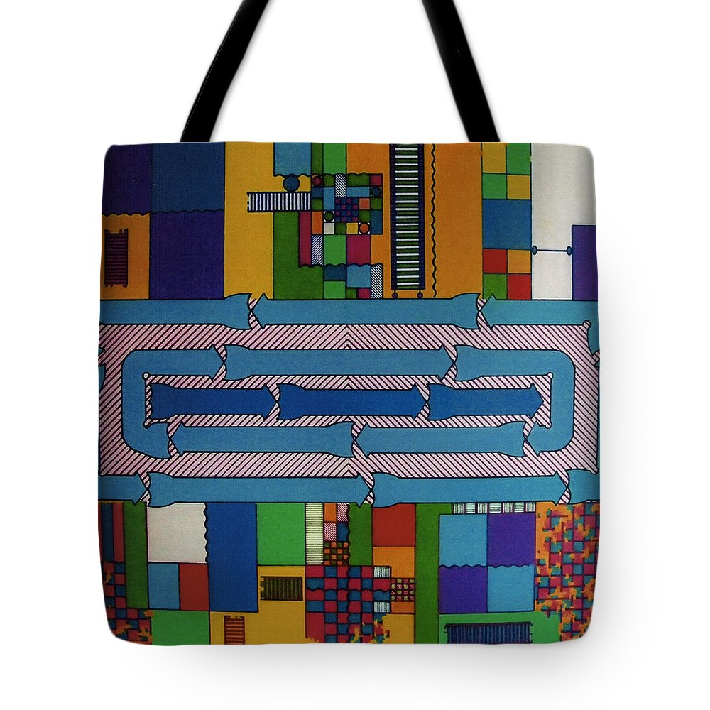 Abstract Tote Bag featuring the drawing Rfb0649 by Robert F Battles
