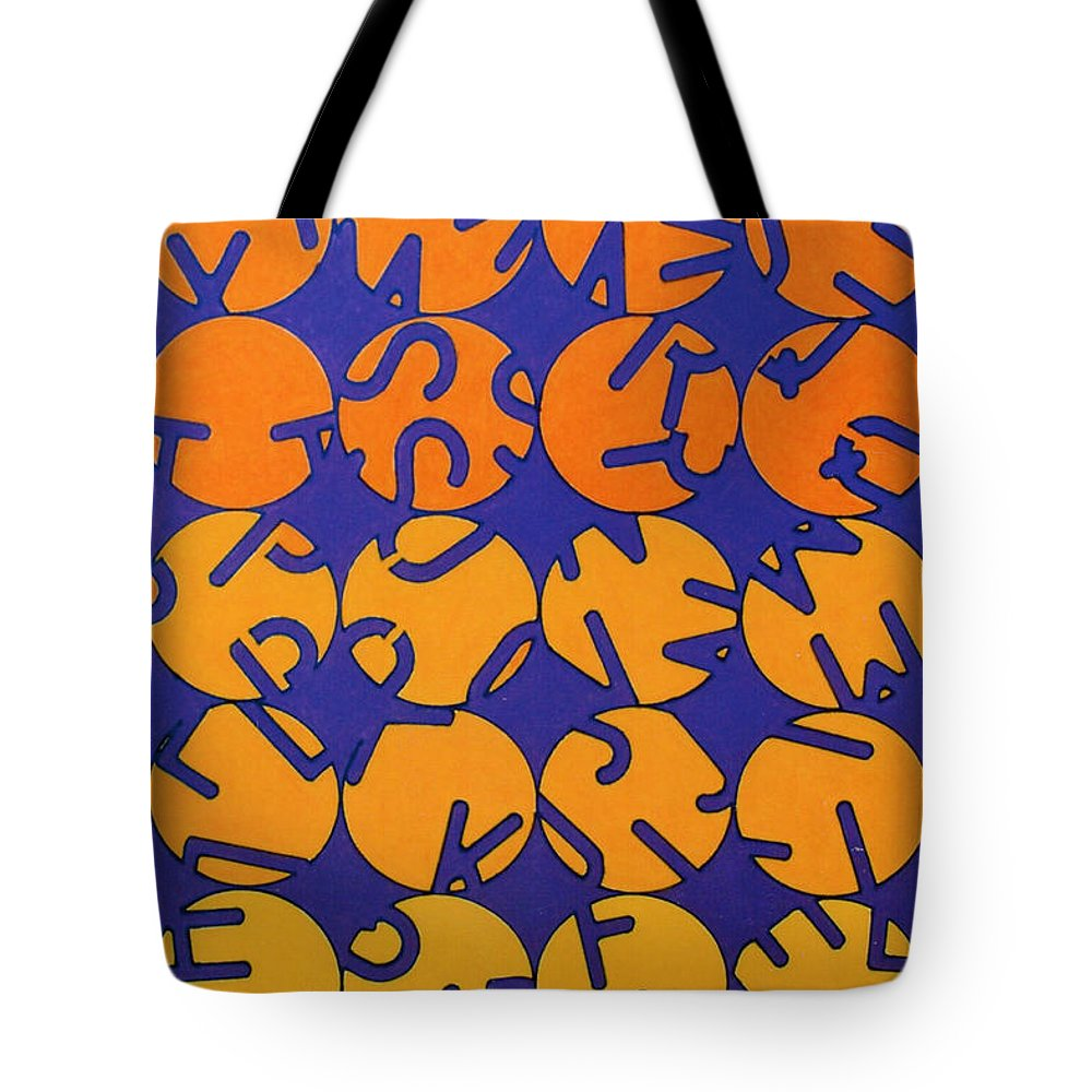Alphabet Theme Tote Bag featuring the drawing Rfb0701 by Robert F Battles