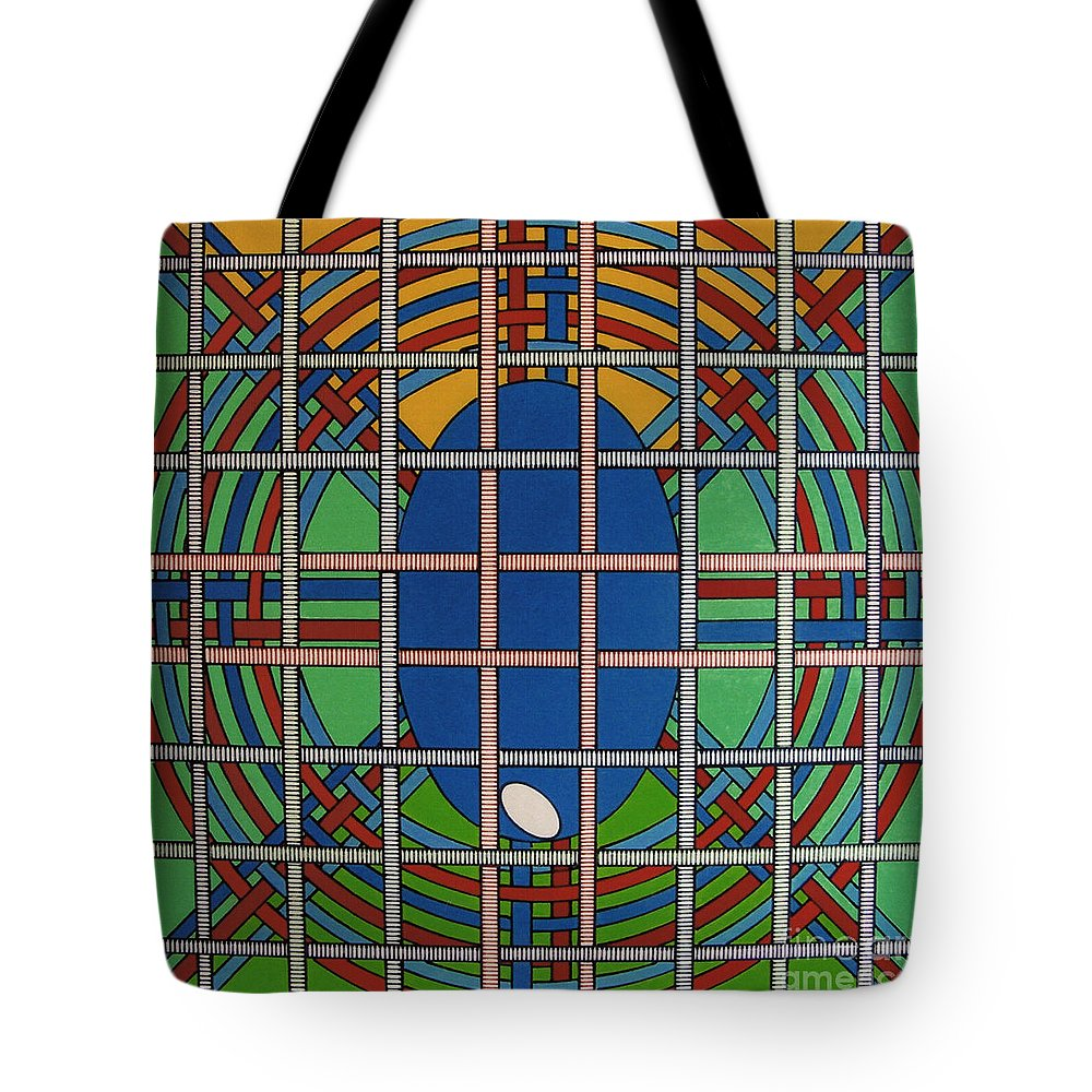 Balanced Weave Tote Bag featuring the drawing Rfb0706 by Robert F Battles