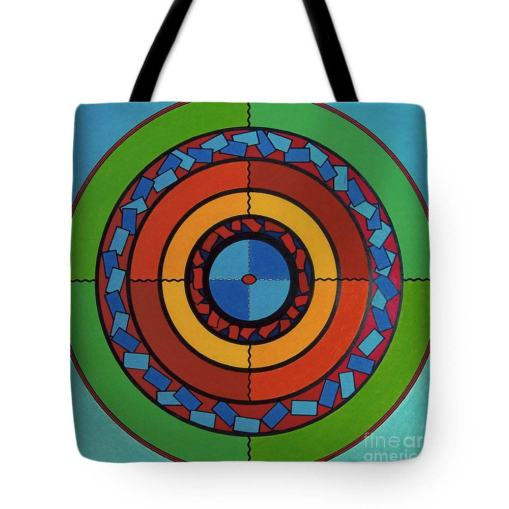 On Target Tote Bag featuring the drawing Rfb0708 by Robert F Battles