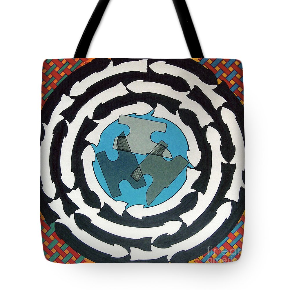 Directions Tote Bag featuring the drawing Rfb0714 by Robert F Battles