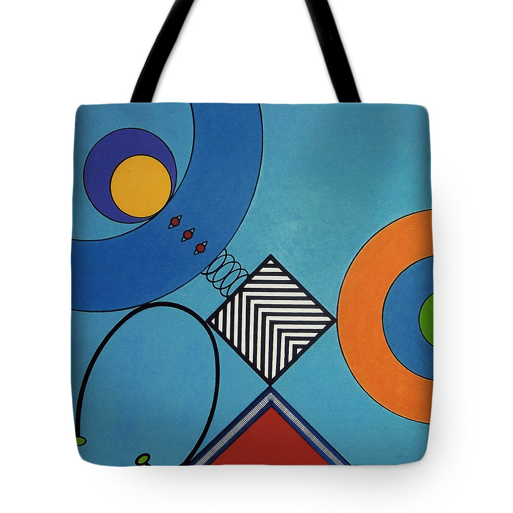 Springbox Tote Bag featuring the drawing Rfb0720 by Robert F Battles