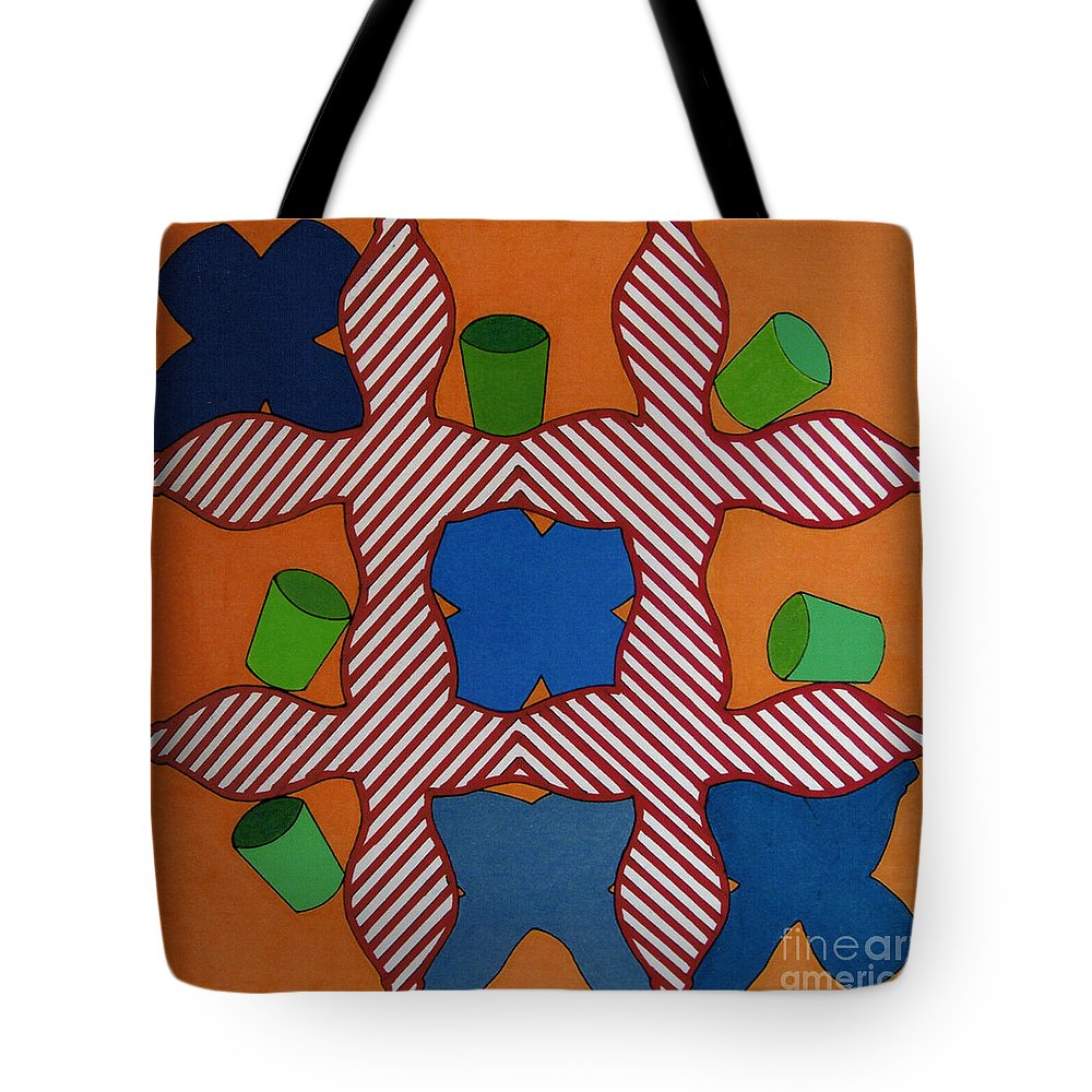 Tic-tac-toe Tote Bag featuring the drawing Rfb0806 by Robert F Battles