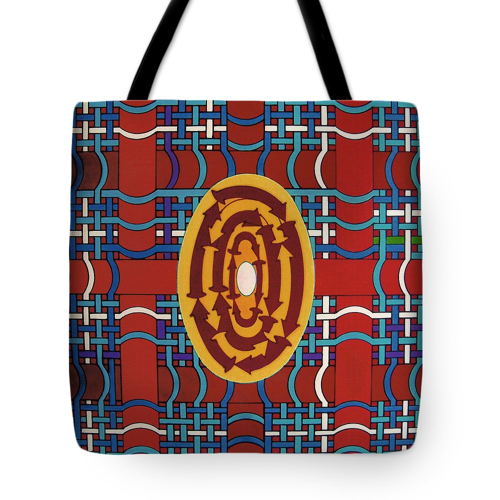 Plaid Tote Bag featuring the drawing Rfb0809 by Robert F Battles