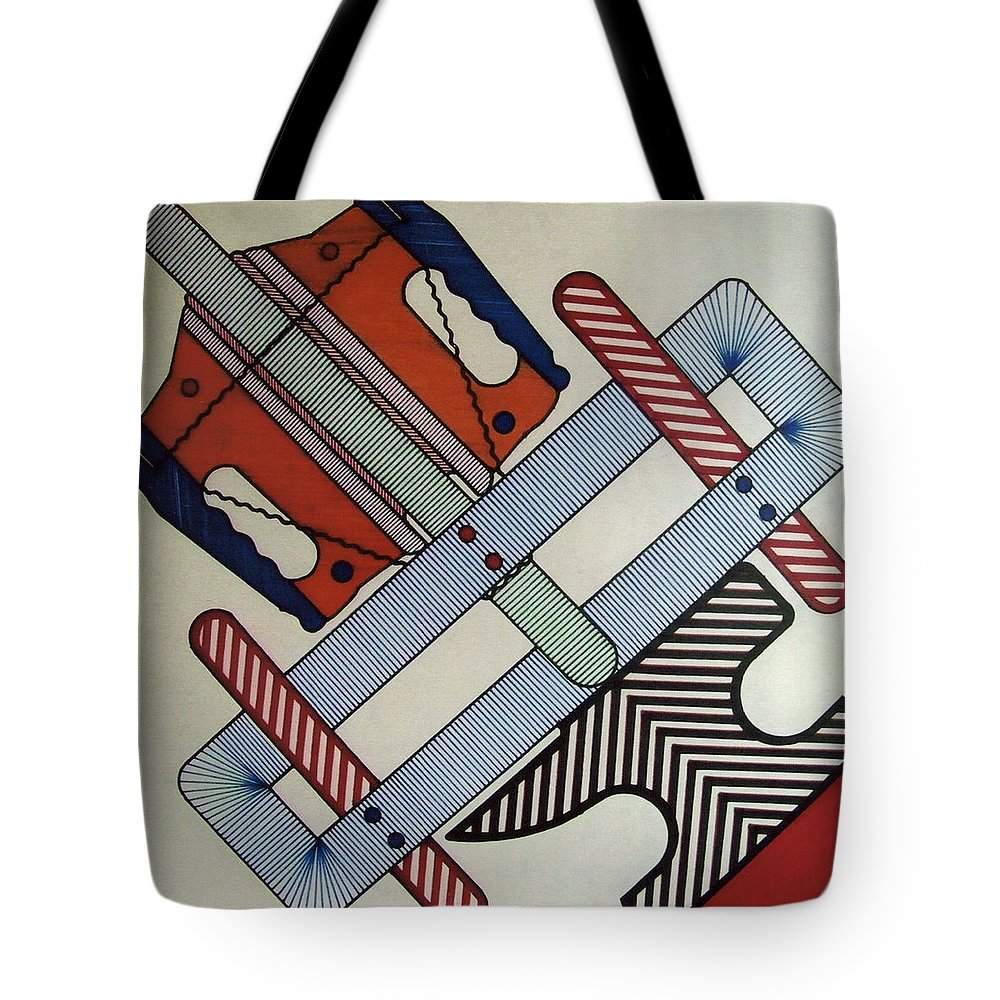 Anvil Tote Bag featuring the drawing Rfb0901 by Robert F Battles