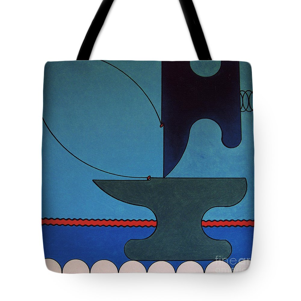 Abstract Tote Bag featuring the drawing Rfb0905 by Robert F Battles