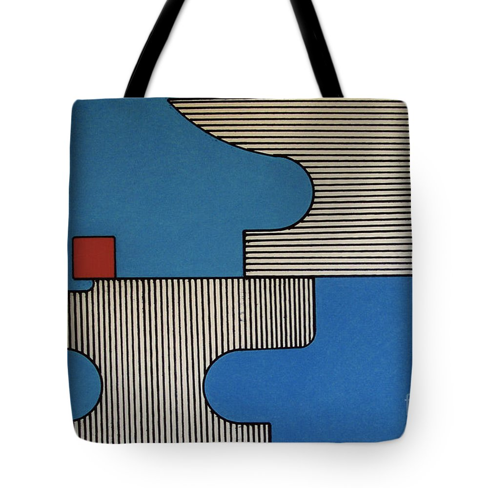 Anvils Tote Bag featuring the drawing Rfb0907 by Robert F Battles