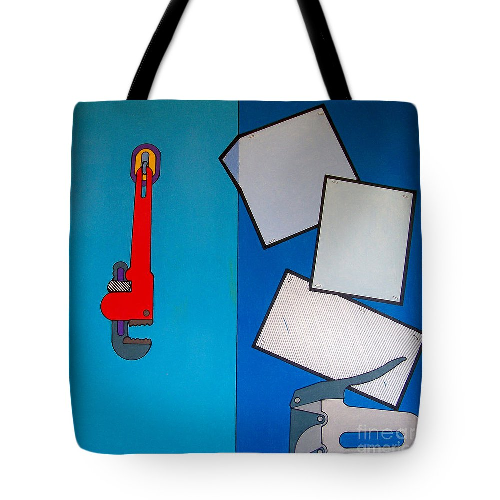 Working Hours Tote Bag featuring the drawing Rfb0911 by Robert F Battles