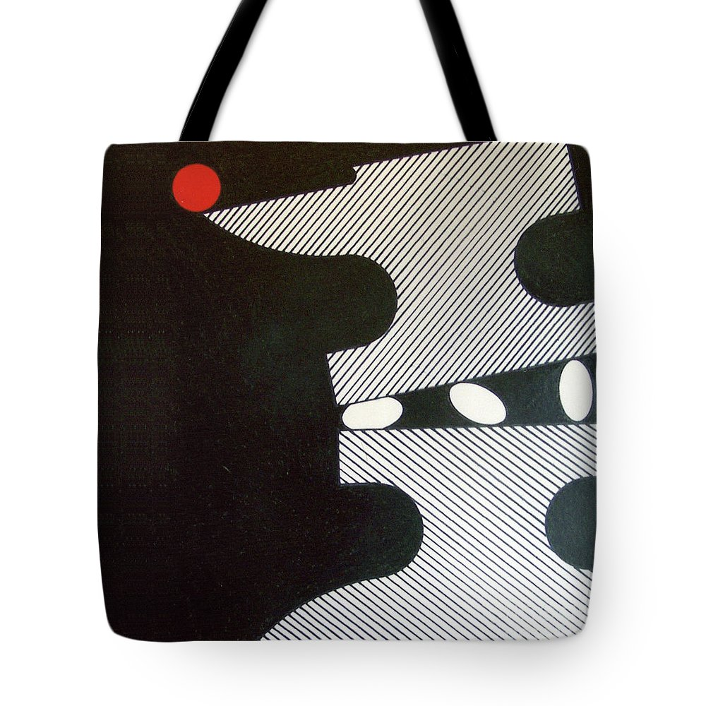 Dark Anvil Tote Bag featuring the drawing Rfb0914 by Robert F Battles