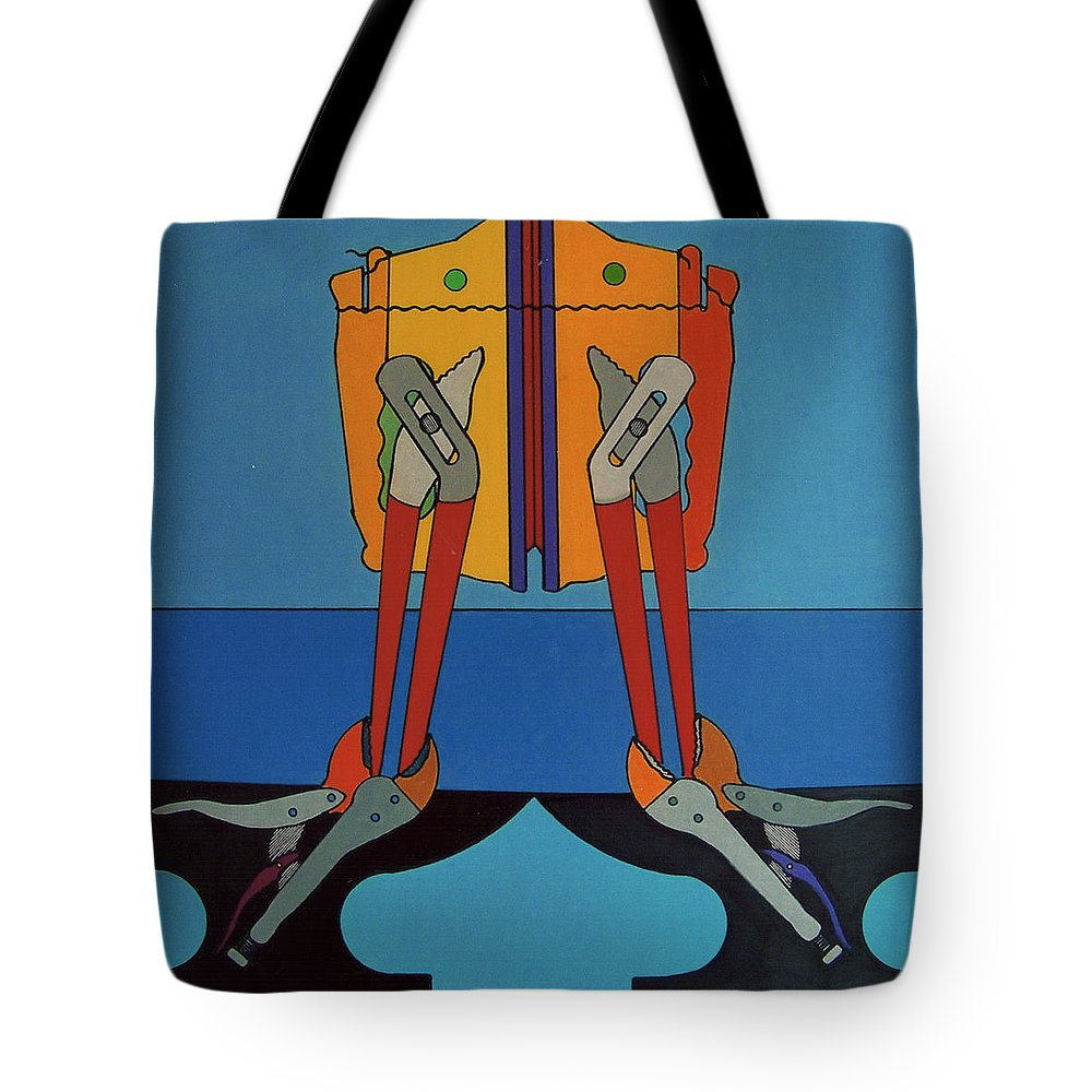Tools Tote Bag featuring the drawing Rfb0917 by Robert F Battles