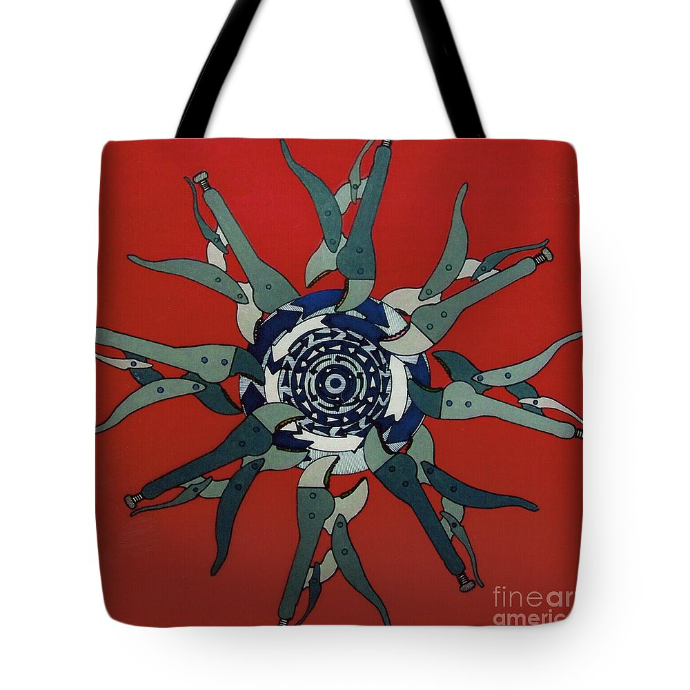 Adjustable Wrenches Tote Bag featuring the drawing Rfb0920 by Robert F Battles