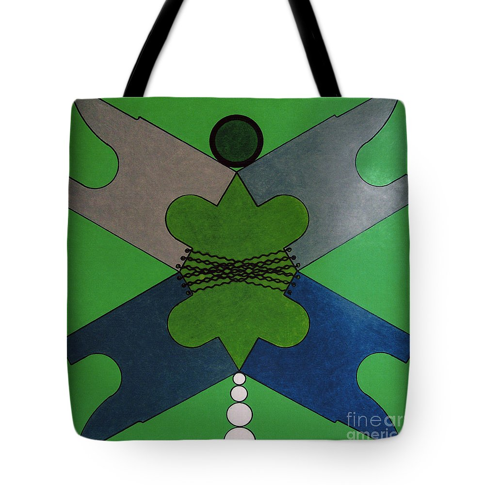 Abstract Tote Bag featuring the drawing Rfb0921 by Robert F Battles
