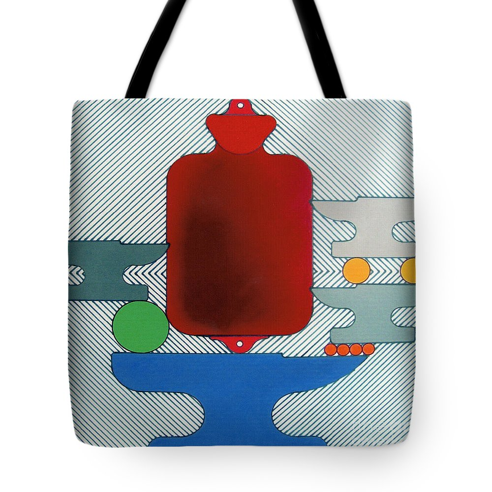 Abstract Tote Bag featuring the drawing Rfb0929 by Robert F Battles