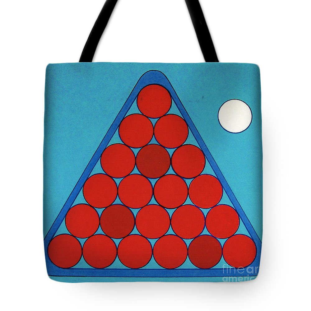 Billards Tote Bag featuring the drawing Rfb0930 by Robert F Battles