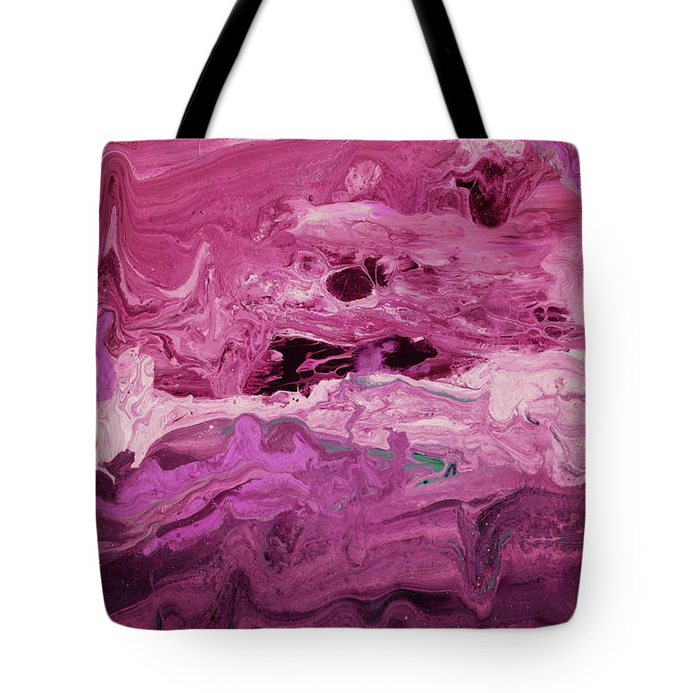 Abstract Tote Bag featuring the mixed media Rhapsody 2- Art By Linda Woods by Linda Woods