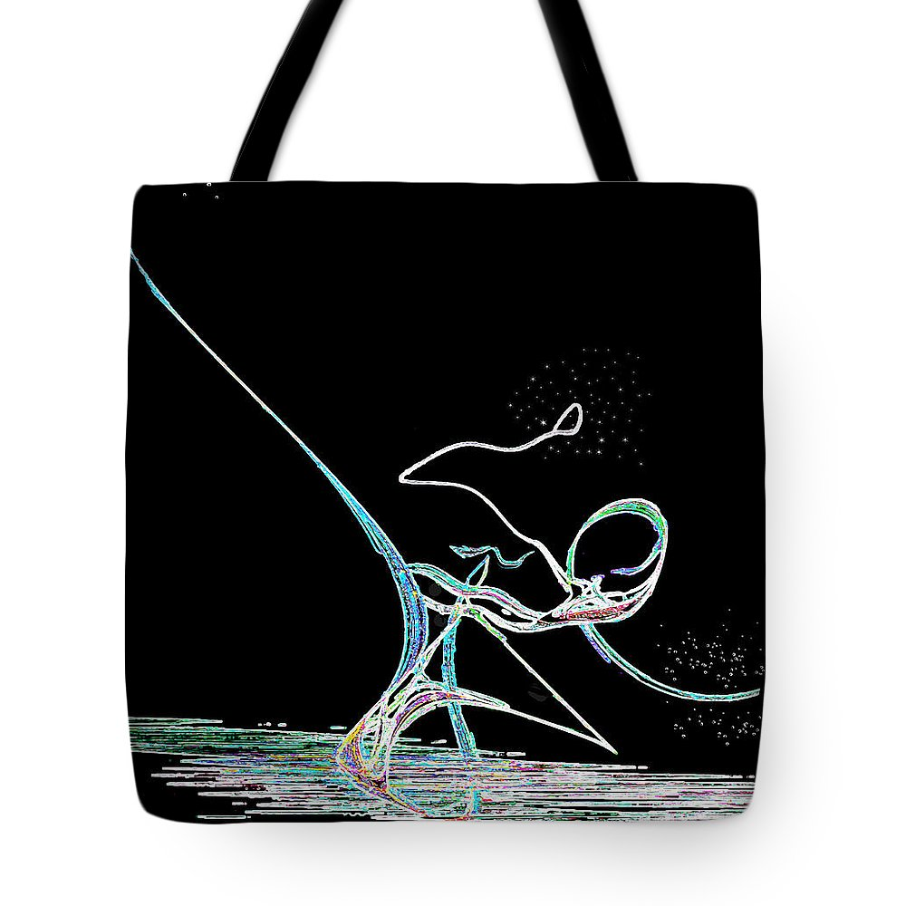 Abstract Tote Bag featuring the digital art Rhinestone Cowboy by RC DeWinter