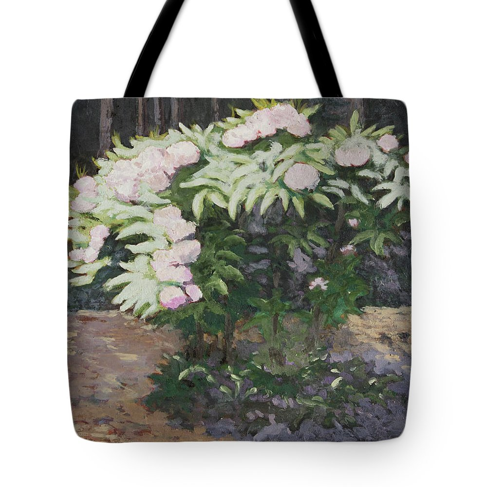 Rhododendron Tote Bag featuring the painting Rhododendron by Craig Newland