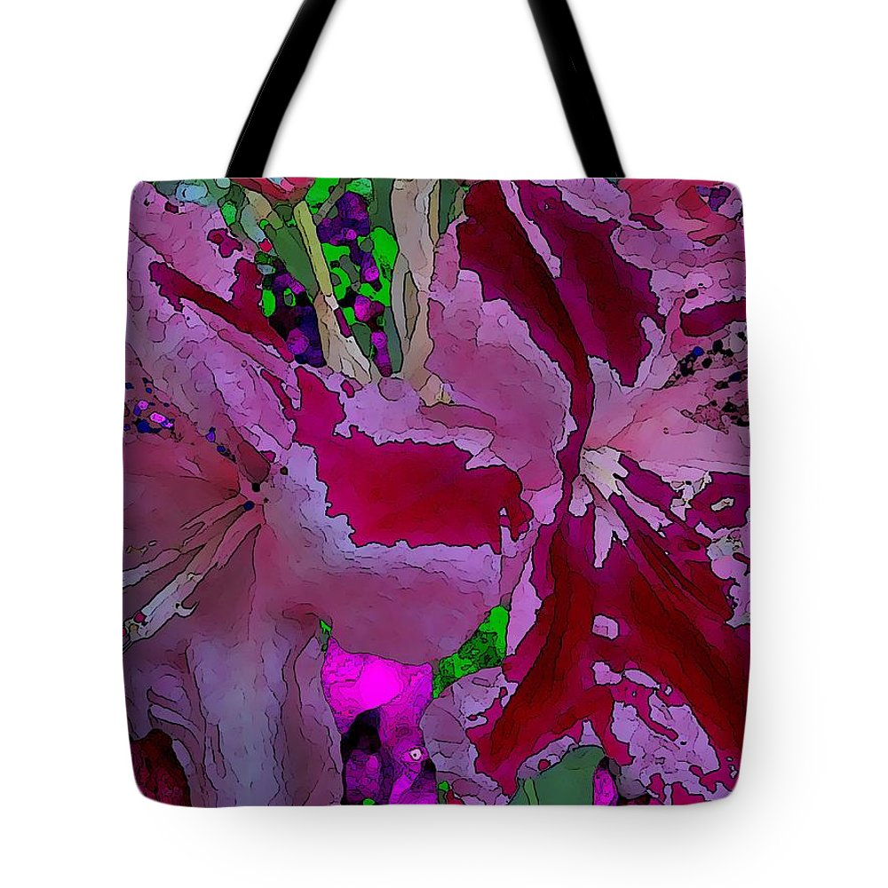 Abstract Tote Bag featuring the digital art Rhody Gone Wild by Tim Allen