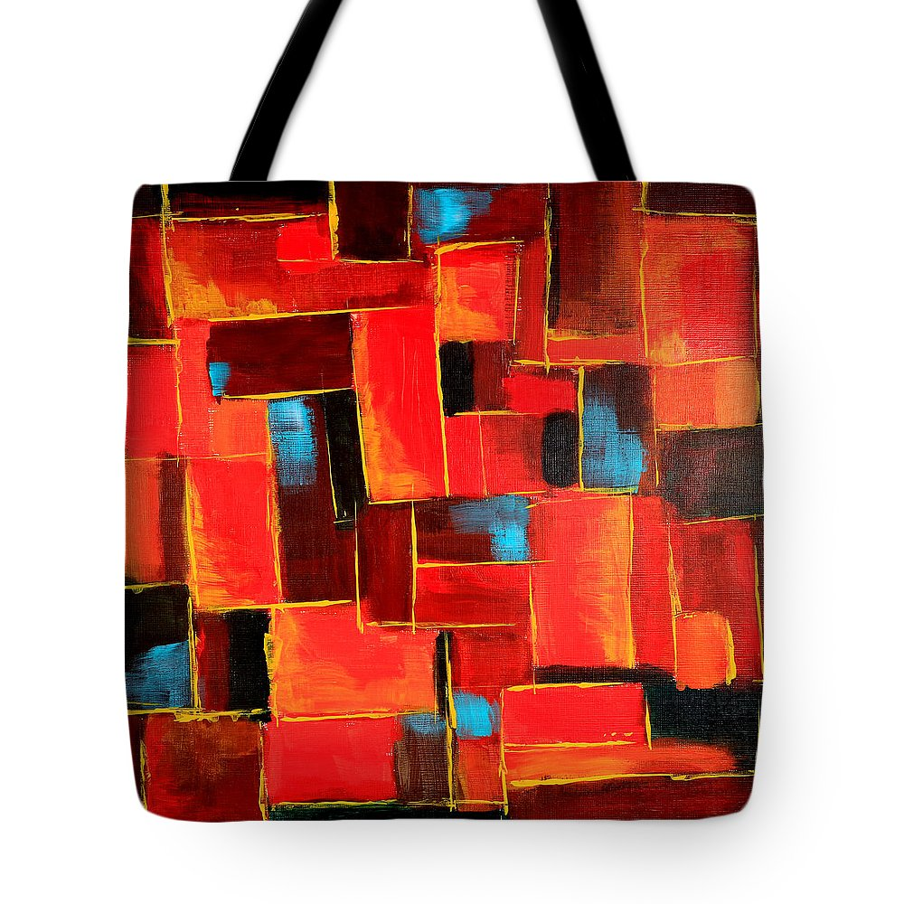 Acrylic Tote Bag featuring the painting Rhyme And Reason by Theresa Morse