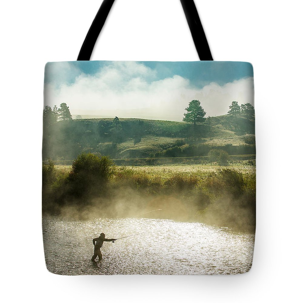Fishing Tote Bag featuring the photograph Rhythm and Grace by Todd Klassy